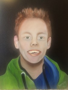 Olieverf portret schilderij